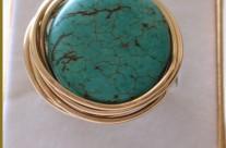 טבעת אבן טורקיז