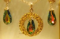 שרשרת ועגילים צבעי הקשת  Iris Zahav