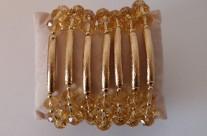 צמידים גולדפילד 14 קראט בצורת חישוק עם קריסטל סברובסקי  Iris Zahav