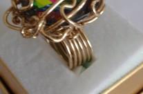 טבעת סברובסקי צבעי הקשת בעיצוב מיוחד  Iris Zahav